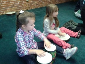 Jamming at Kiddie Music Time Children's Music Class