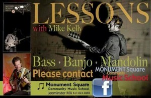 Bass Lessons with Mike Kelly at Monument Square Music School!